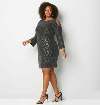 Avenue Geo Glitz Sheath Dress