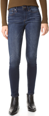 True Religion Jennie Curvy Mid Rise Skinny Jeans $199 thestylecure.com