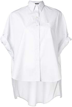 R 13 pinstripe high low shirt