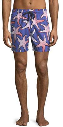 Vilebrequin Men's Starfish Art Swim Trunks