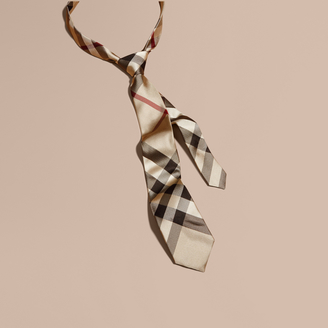 Burberry Modern Cut Check Silk Tie $90 thestylecure.com
