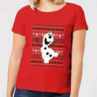 e5601c0bb3fe10 Frozen Olaf Dancing Women's Christmas T-Shirt