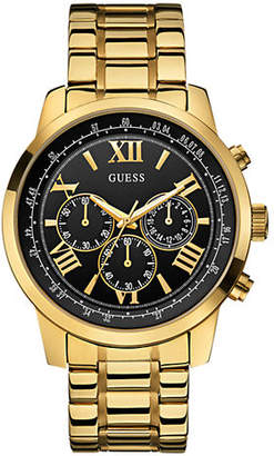 GUESS Mens Chronograph Stainless Steel Gold tone Watch 45mm W0379G4