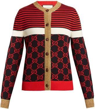 Gucci GG-jacquard cotton cardigan