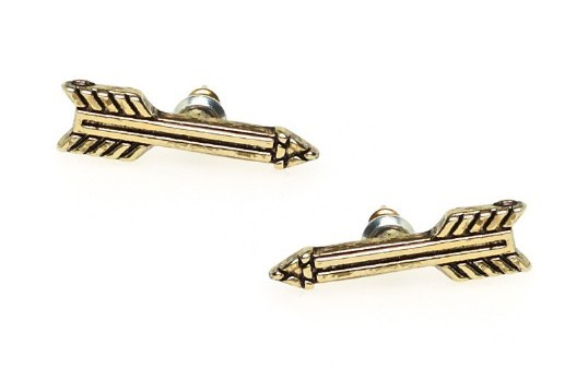 Antiqued Arrow Stud Earrings