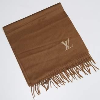 Louis Vuitton Brown Cashmere Scarves