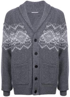 Michael Bastian patterned longline cardigan