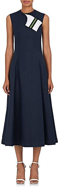 CALVIN KLEIN 205W39NYC Women's Cotton-Silk Cady A-Line Dress