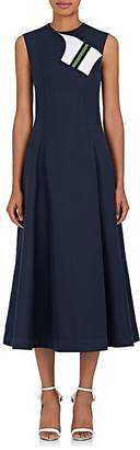 Calvin Klein Women's Cotton-Silk Cady A-Line Dress