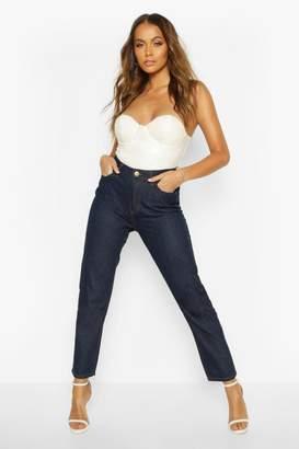 boohoo High Rise Straight Leg Jean