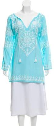Melissa Odabash Laura Embroidered Tunic
