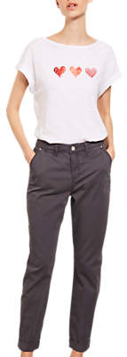 Mint Velvet Relaxed Fit Casual Chinos, Grey