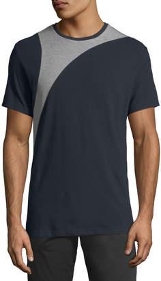 Karl Lagerfeld Paris Men's Pique-Block Crewneck T-Shirt