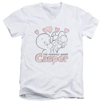 Casper Hearts Mens V-Neck Shirt