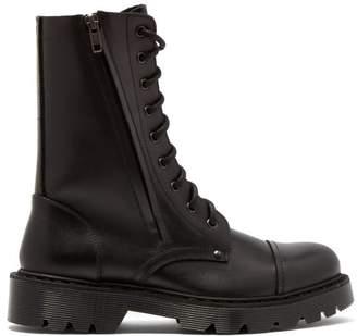 Vetements Leather Combat Boots - Womens - Black