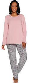 Cuddl Duds Petite Fleecewear Stretch NoveltyPajama Set