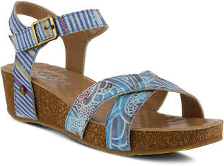 9e41aa6cc584 at DSW · Spring Step L Artiste by Vella Wedge Sandal - Women s