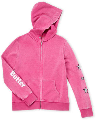 Butter Shoes Girls 7-16) Studded Unicorn Zip-Up Hoodie