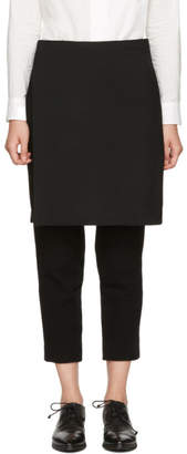 Y's Ys Black Wool Skirt Trousers
