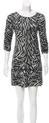 Alice + Olivia Silk Leopard Print Dress