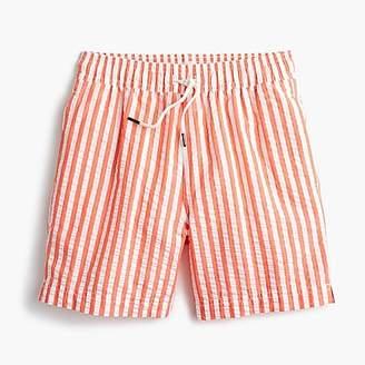J.Crew Boys' swim trunk in striped seersucker