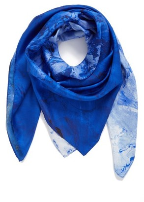 Women's Nordstrom Studies In Oils Square Silk Scarf $69 thestylecure.com