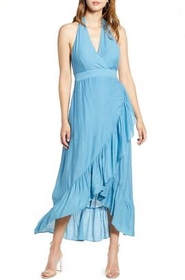Endless Rose Halter High/Low Maxi Dress