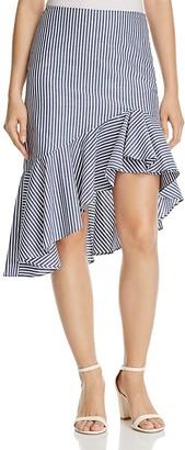 AQUA Asymmetric Ruffled Skirt - 100% Exclusive $78 thestylecure.com