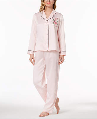 Thalia Sodi Rose-Print Woven Pajama Set, Created for Macy's