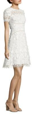 Elie Tahari Adina Embroidered A-Line Dress $448 thestylecure.com