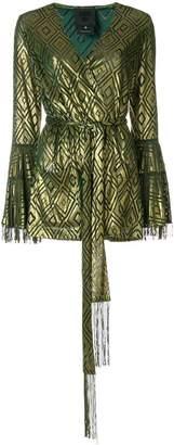 Anna Sui devoré wrap blouse