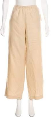 MCM High-Rise Linen Pants