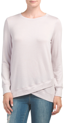 French Terry Crossover Sweatshirt $16.99 thestylecure.com