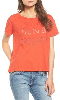 Women's Sundry Sea Sun Freedom Tee $68 thestylecure.com