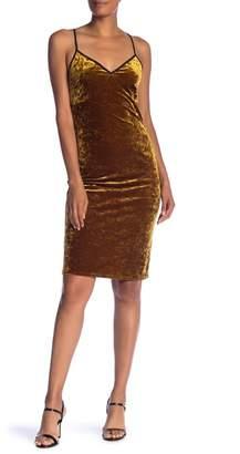 1 STATE 1.State Velvet Midi Slip Dress