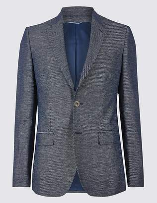 Marks and Spencer Cotton Rich Tailored Fit Jacket
