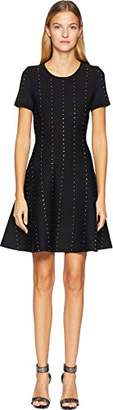 The Kooples Women's Women's Short Sleeve Power Stretch Knit Dress with Studs