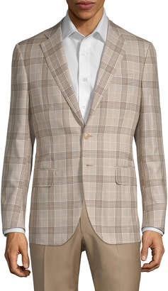 Isaia Plaid Wool Blend Sportcoat