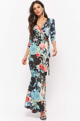 Forever 21 Floral Faux-Wrap Maxi Dress