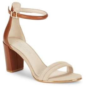 Lex Suede and Leather Sandals $130 thestylecure.com