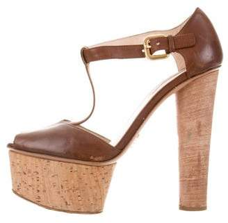Prada Ankle Strap Platform Sandals