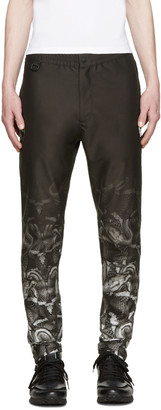 Marcelo Burlon County of Milan Black Lamborghini Snake Trousers $415 thestylecure.com