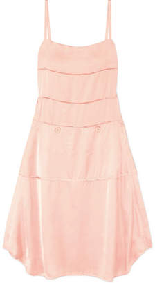 Carven Satin Midi Dress - Blush