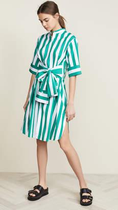 0e25434f4e86 Green And White Striped Dress - ShopStyle