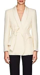 BLAZÉ MILANO Women's Essentials Wool Belted Blazer-Cream