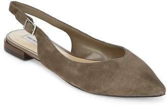 Saks Fifth Avenue Women's Point Toe Leather Slingback Dress Flats