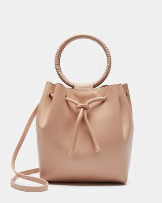 Theory Drawstring Bag With Wax Cord Hoop in Soft Leather