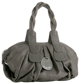 Gustto charcoal leather 'Cala' large bag
