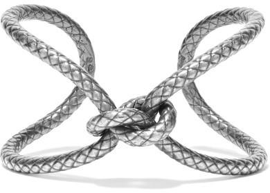 Bottega VenetaBottega Veneta - Oxidized Silver Bracelet - S