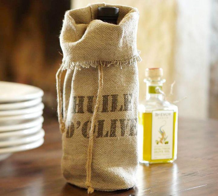 Huile D'Olive Burlap Bag